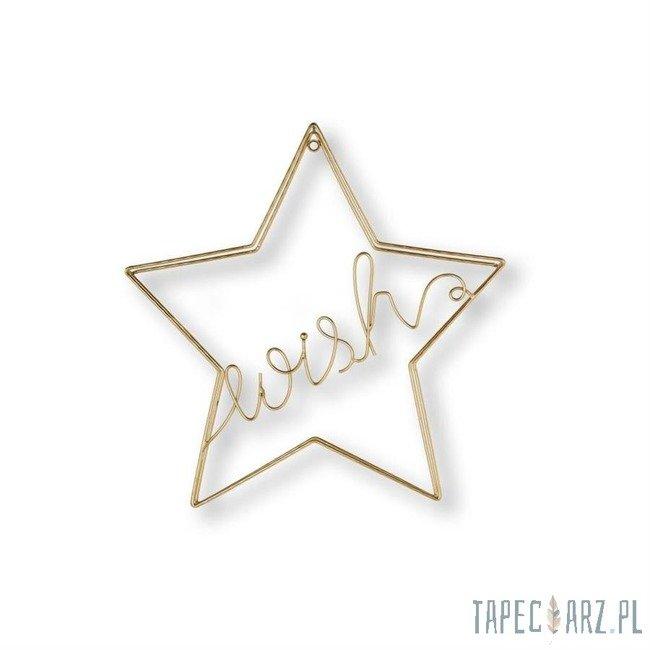 Dekoracja ścienna - Złota gwiazda 104033