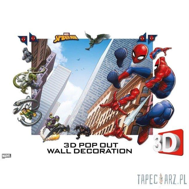 Dekoracje ścienne 3D Walltastic Spider-Man 44586