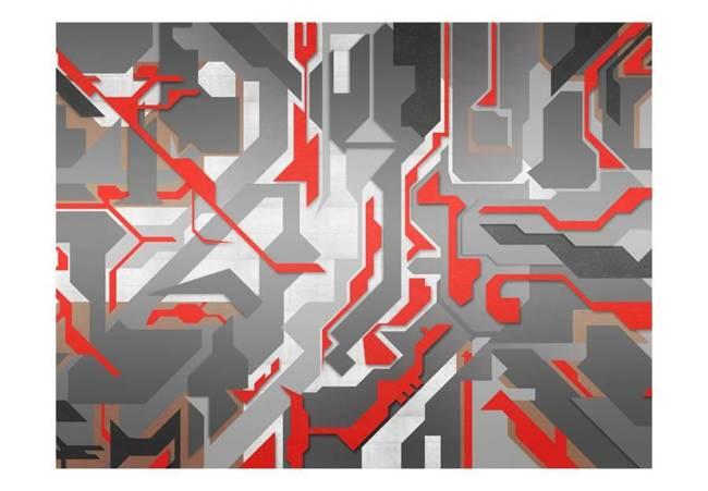 Fototapeta - Abstrakcyjne geometryczne ścieżki