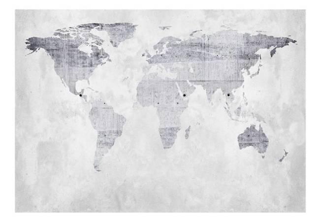 Fototapeta - Betonowa mapa