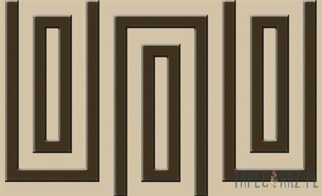 Fototapeta Beżowo-brązowy wzór geometryczny 862