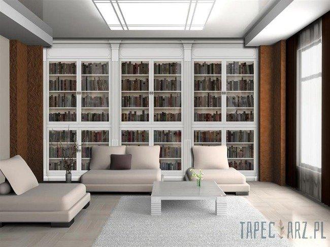Fototapeta Biała biblioteka pełna książek 3689