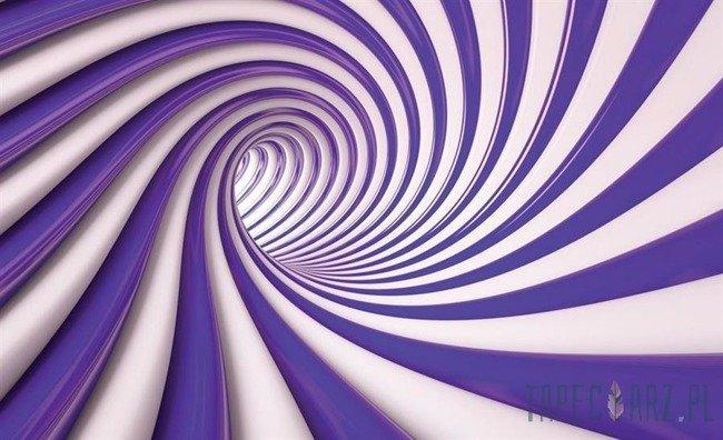 Fototapeta Biało-fioletowy tunel 3D 2151