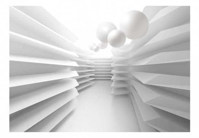 Fototapeta - Biały labirynt
