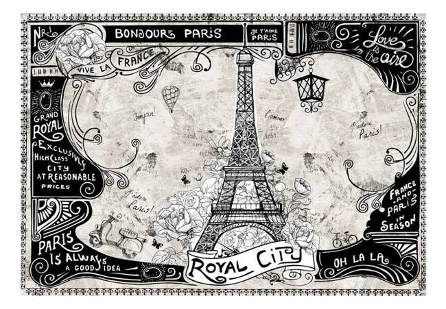 Fototapeta - Bonjour Paris