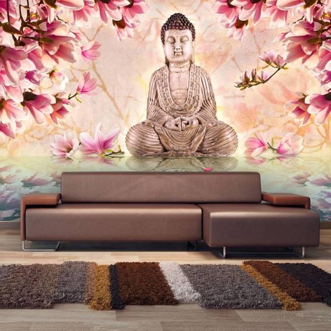 Fototapeta - Budda i magnolia