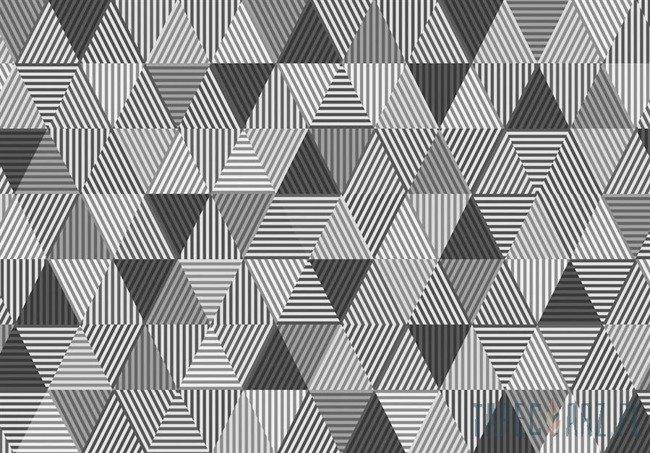 Fototapeta Czarno-białe trójkąty 10759