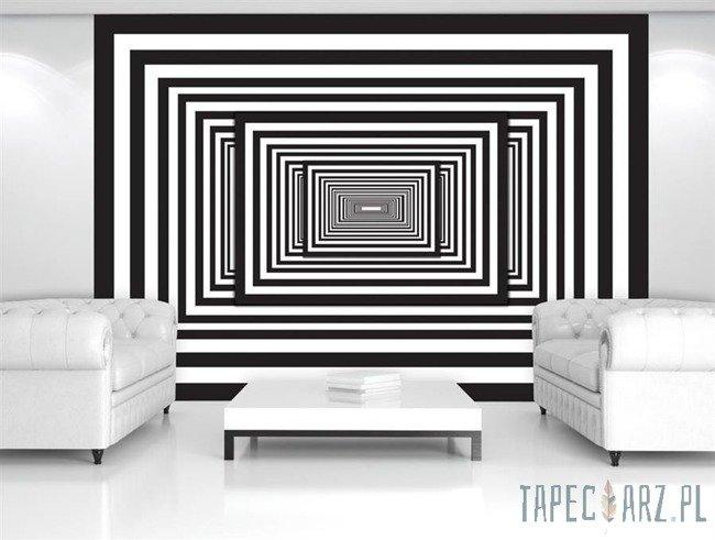 Fototapeta Czarno-biały tunel 3D 2262