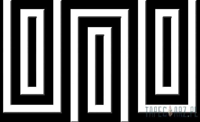 Fototapeta Czarno-biały wzór geometryczny 856