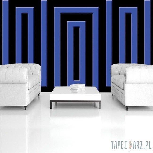 Fototapeta Czarno-niebieski wzór geometryczny 861
