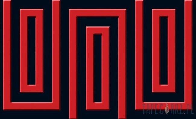 Fototapeta Czerwono-granatowy wzór geometryczny 868