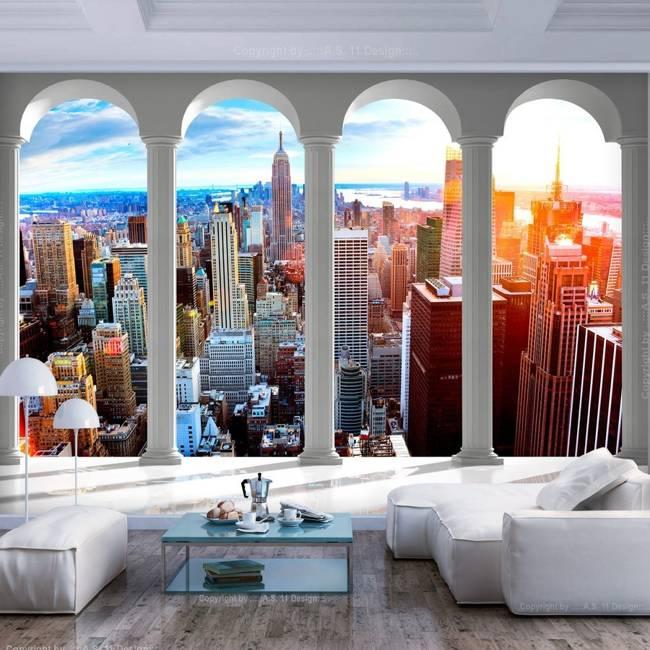 Fototapeta - Filary i Nowy Jork