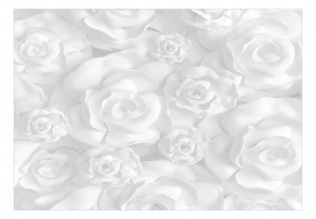 Fototapeta - Gipsowe kwiaty