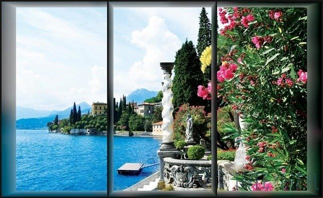 Fototapeta Jezioro Como - widok za oknem 494