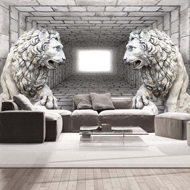 Fototapeta - Kamienne lwy