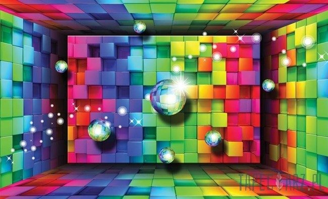Fototapeta Kolorowe kwadraty - abstrakcja 3701