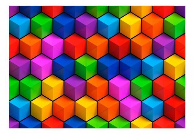 Fototapeta - Kolorowe pola geometryczne