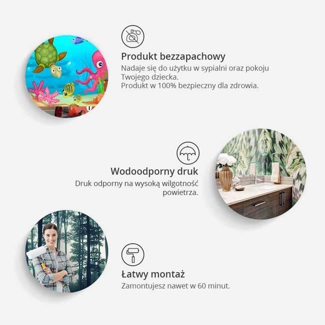 Fototapeta - Kolorowy plusk