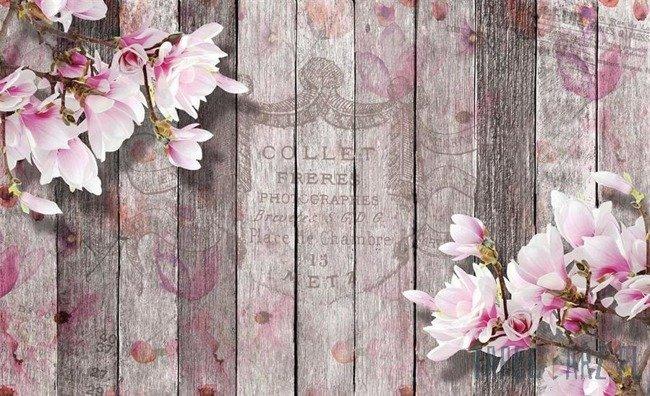Fototapeta Kwiaty na deskach 3352