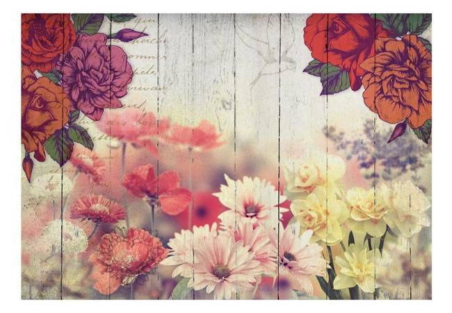 Fototapeta - Kwiaty vintage