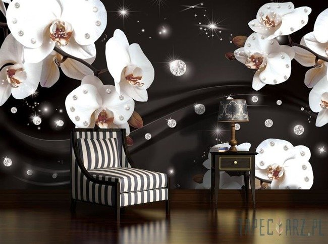 Fototapeta Kwiaty w diamentach 2311