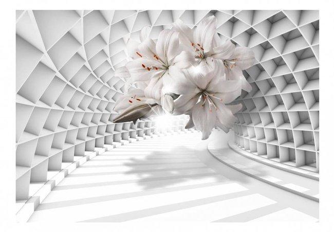 Fototapeta - Kwiaty w tunelu