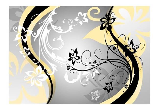Fototapeta - Kwietne esy-floresy (żółty)
