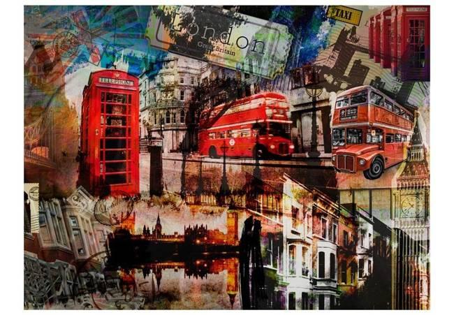 Fototapeta - Londyński kolaż