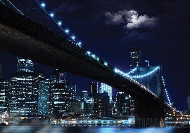 Fototapeta Miasto i most nocą 10328