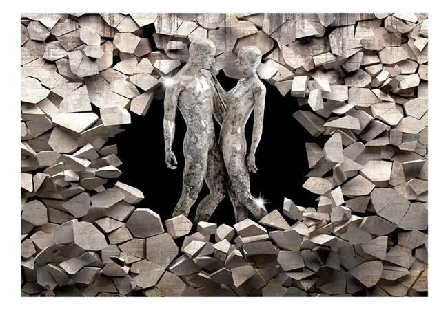 Fototapeta - Miłość z kamienia