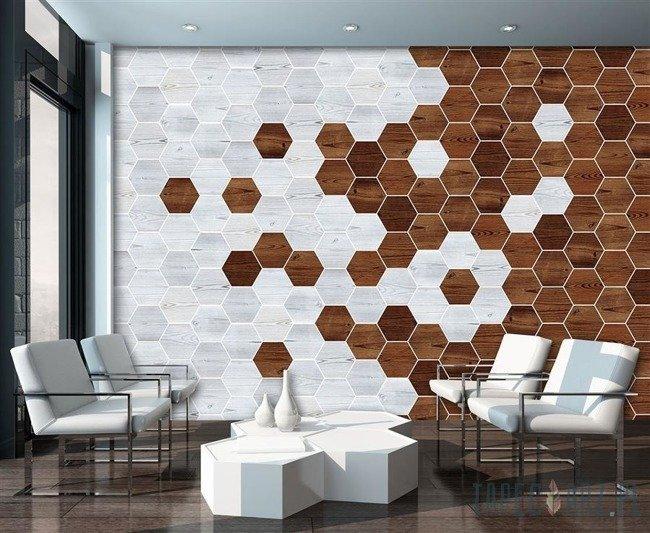 Fototapeta Mozaika - drewno 11199