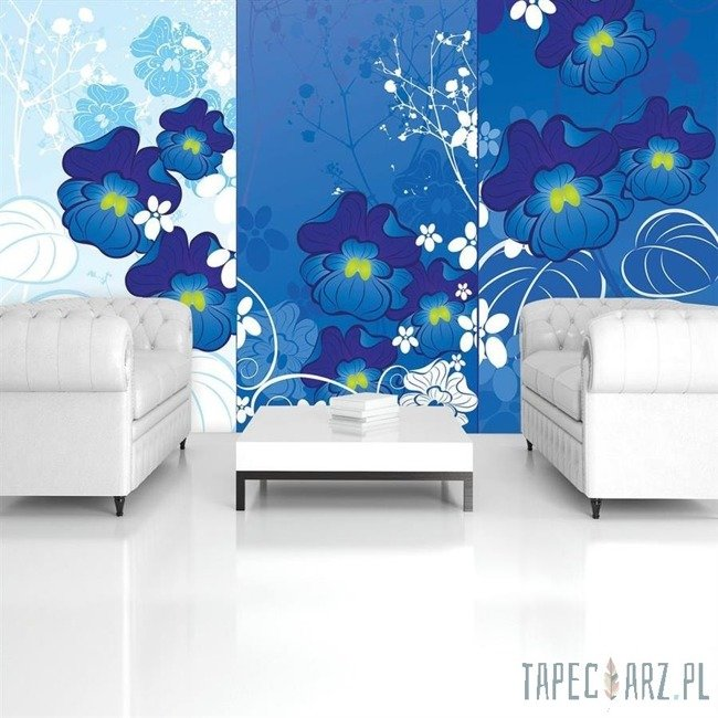 Fototapeta Niebieska kompozycja kwiatowa 853