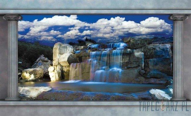 Fototapeta Niebieski wodospad 2871