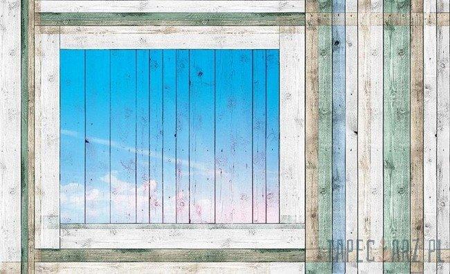 Fototapeta Okno z paneli 1100