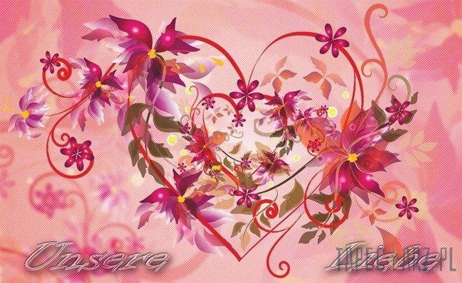 Fototapeta Ornament w kształcie serca 781