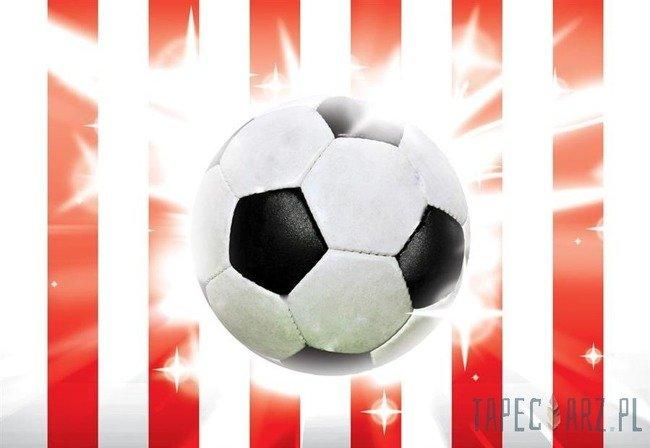 Fototapeta Piłka nożna na biało-czerwonym tle 473
