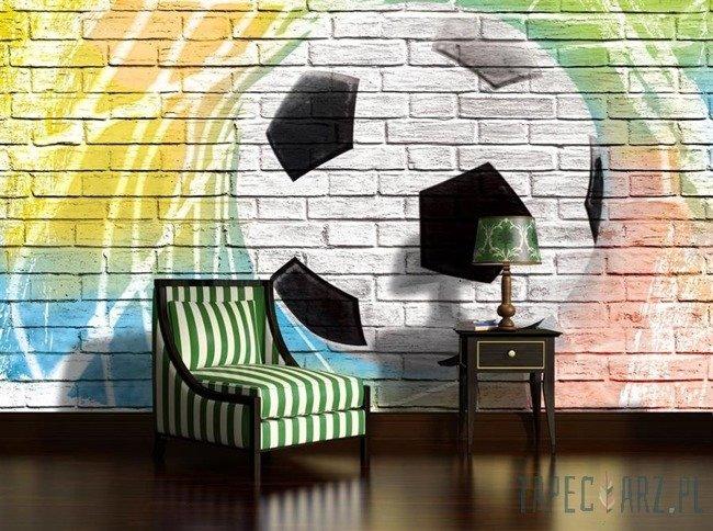 Fototapeta Piłka nożna na ceglanej ścianie 2021