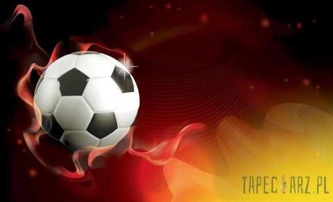 Fototapeta Piłka nożna na czerwonym tle 3384