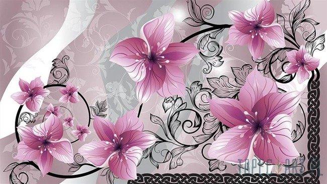 Fototapeta Różowe kwiaty 1231