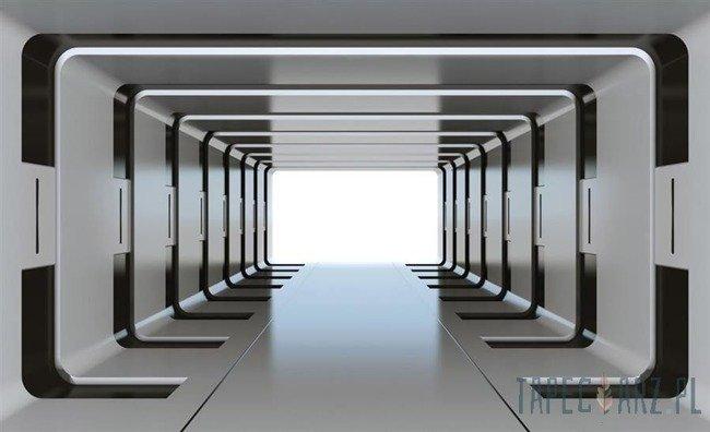 Fototapeta Srebrny tunel 3D 2798