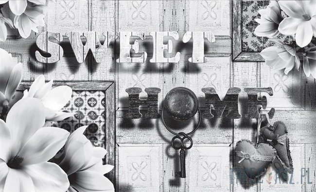 Fototapeta Sweet Home (czarno-białe) 3640