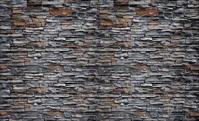 Fototapeta Szaro-brązowy kamień elewacyjny 2197