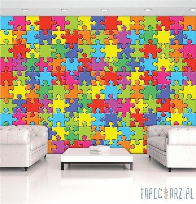 Fototapeta Tęczowe puzzle 10127