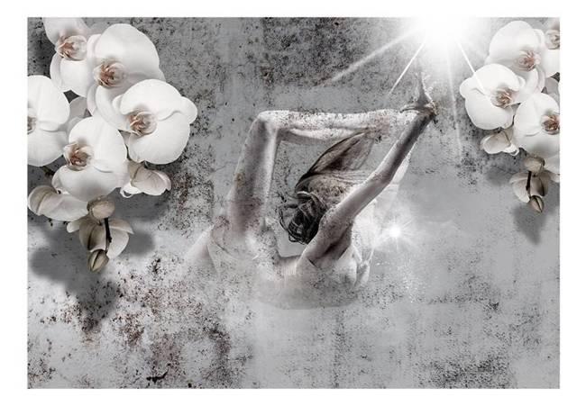 Fototapeta - Układ z orchideą