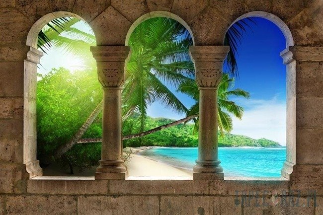 Fototapeta Widok na rajską plażę 772