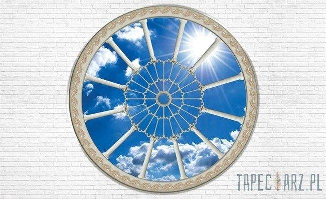 Fototapeta Widok przez okno na błękitne niebo 2096