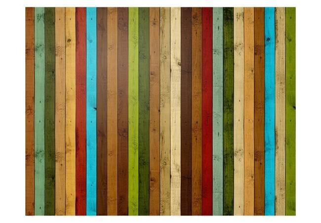 Fototapeta - Wooden rainbow
