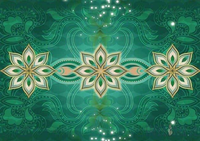 Fototapeta Zielony kwiatowy ornament 2380