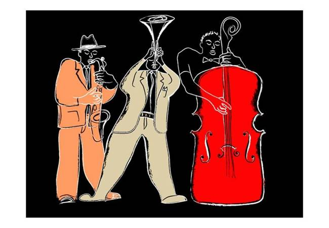 Fototapeta - instrumenty muzyczne (jazz)