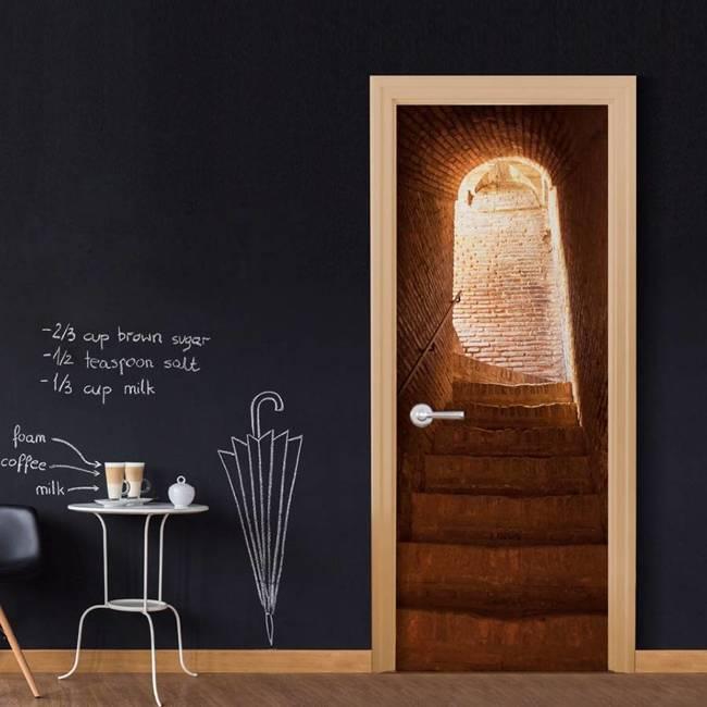Fototapeta na drzwi - Tajemnicze schody